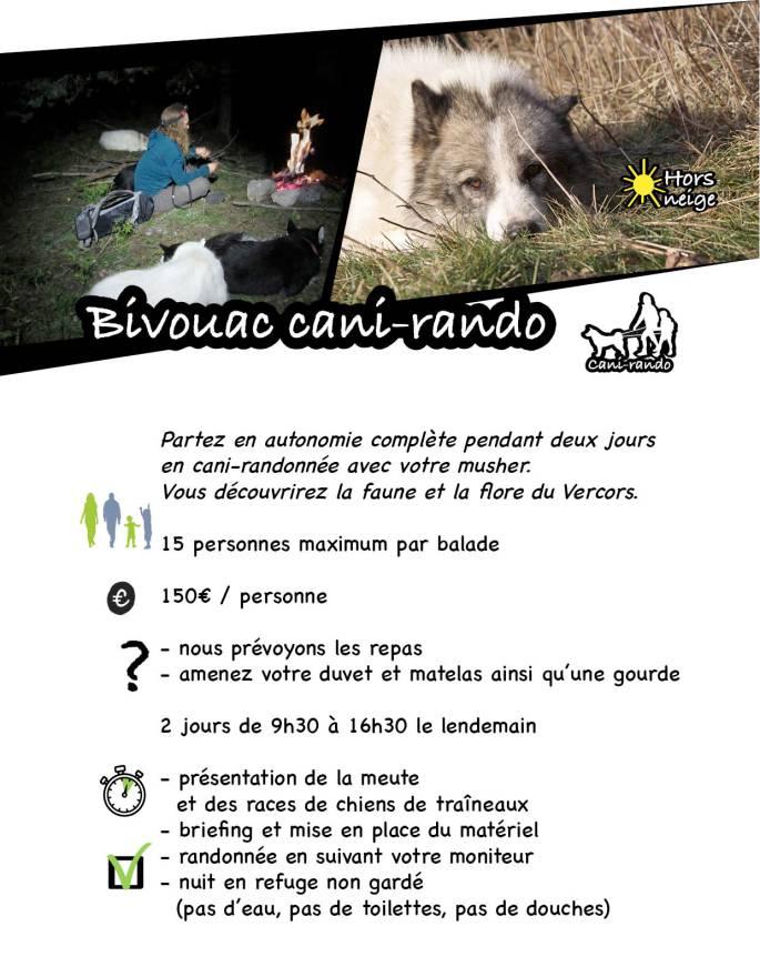 page site bivouac cani rando