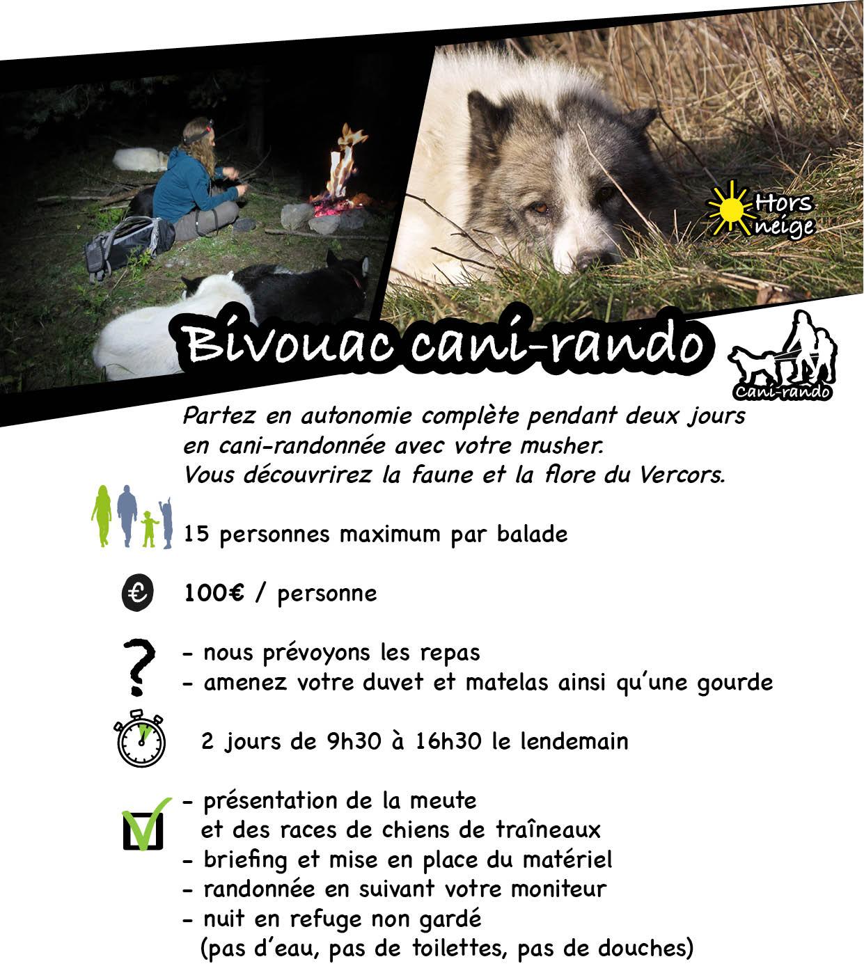 2 jours de randonnée avec chiens de traineau dans le vercors